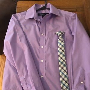 Boys size 14 Dress Shirt and Matching Tie